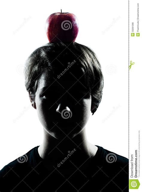 boy cut out stock photos pictures royalty free boy cut one young teenager boy or girl silhouette with an apple on