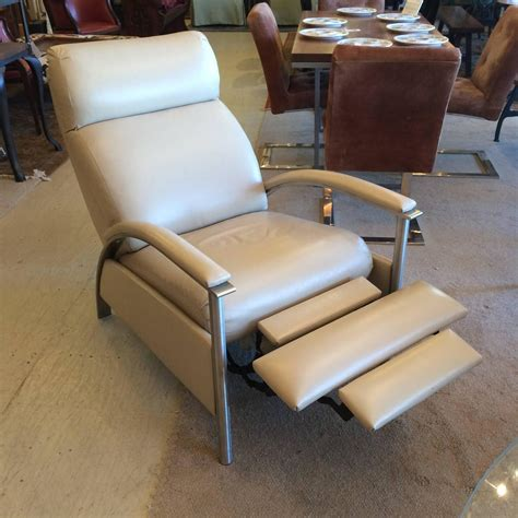 Sleek Recliners by Sleek Leather Reclining Chair At 1stdibs