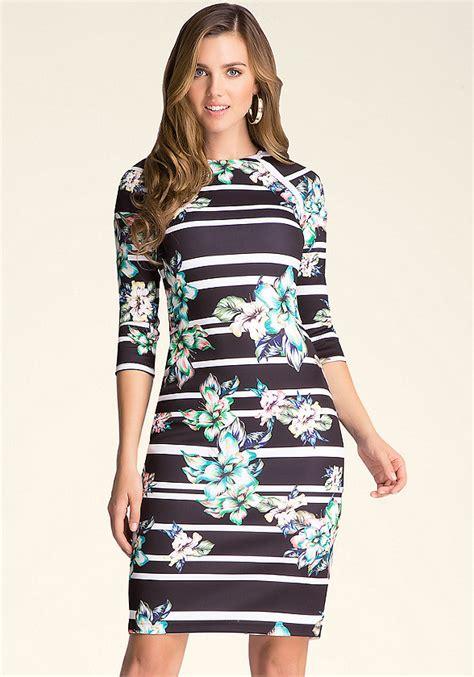 New Jfashion Dress Scuba Printing Hitam Hgb print scuba midi dress all new arrivals bebe