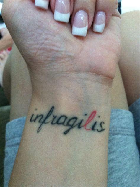 unbreakable tattoo in latin unbreakable wrist tattoo