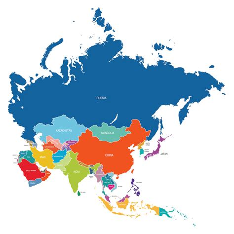 map of asia continent what continent is israel in country digest