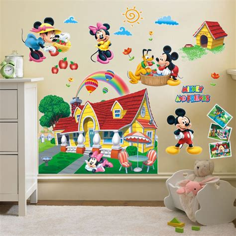 mickey mouse bedroom stickers 3d mickey mouse clubhouse wall stickers kids bedroom decor