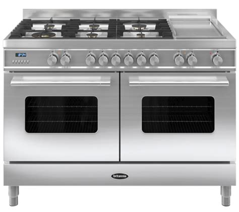 Oven Gas Stainless Uk 120 buy britannia delphi 120 rc12tgdes dual fuel range cooker stainless steel free delivery currys
