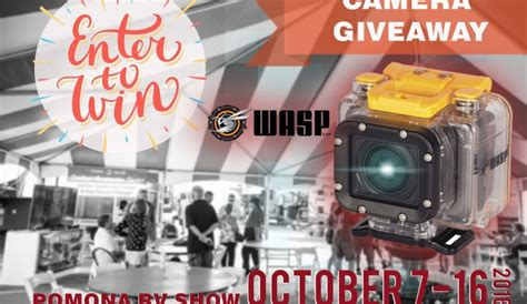 Camera Giveaway 2016 - enter to win ddrv s wasp camera giveaway pomona rv show