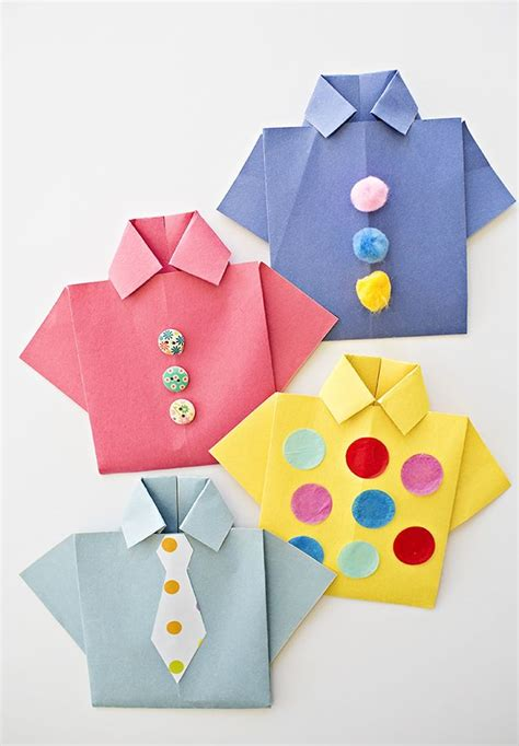 easy origami shirt s day card paper
