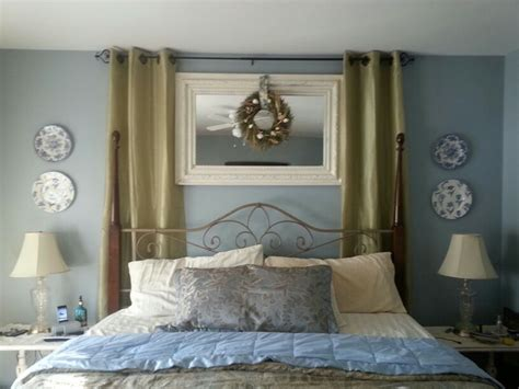 slate blue bedroom