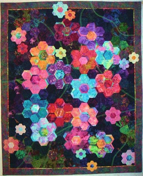 hexagon flower pattern quilt 407 best images about hexie quilts on pinterest flowers