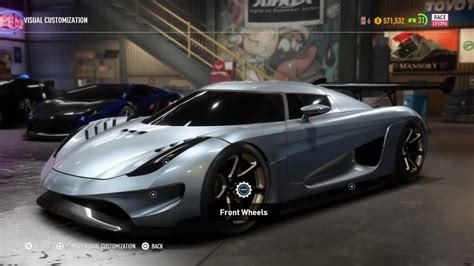 koenigsegg car from need for speed need for speed payback koenigsegg regera race build