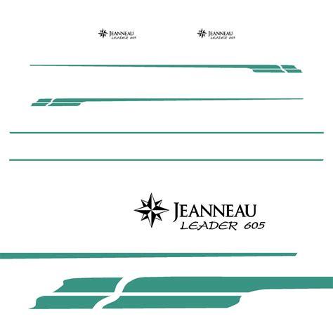 kit stickers jeanneau leader  ref  autocollant coque bateau