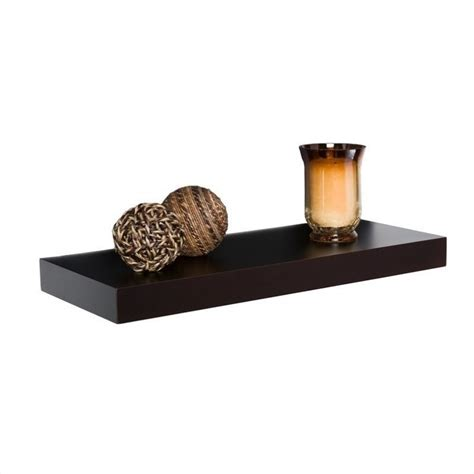 10 Floating Shelf by Southern Enterprise Chicago Floating Shelf 10 Quot In Chocolate En7101