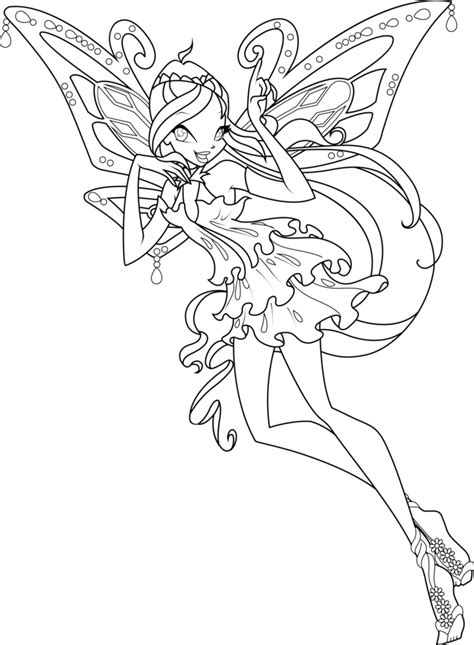 coloring pages winx bloom enchantix coloring page by icantunloveyou on deviantart