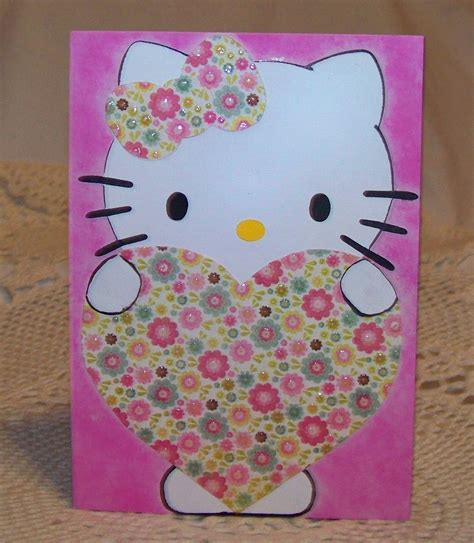 Bonanza Gift Card - hello kitty greeting and gift card holder envelope pink cat greeting cards gift tags
