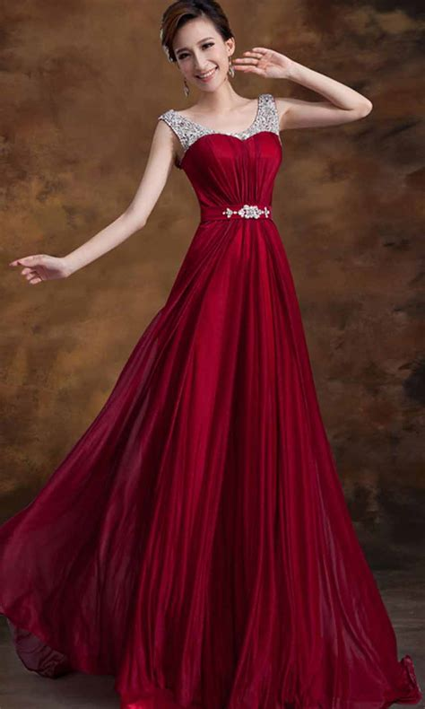 Wine Sequin Straps Long Prom Dresses 2015 KSP353 [KSP353]   £94.00 : Cheap Prom Dress UK