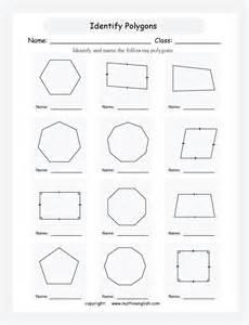 worksheets identifying polygons worksheet chicochino