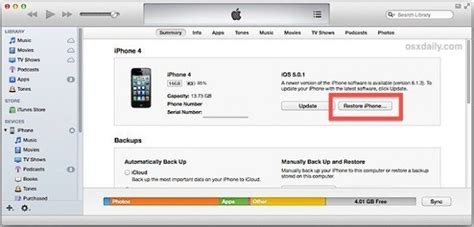 how to factory reset an iphone 4 without a passcode quora