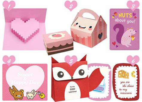 printable valentine paper crafts valentine crafts printables kawaii kao ani com