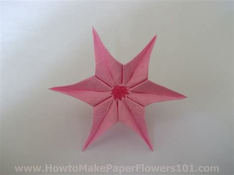 Easy Paper Folding Flowers - easy paper flowers folding tutorial how to make paper