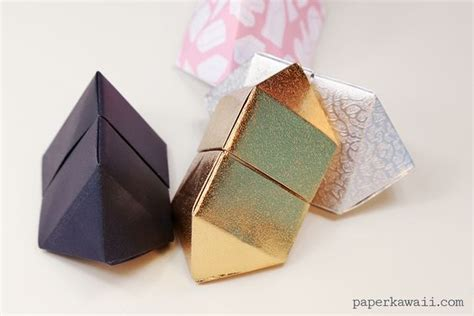 How To Make Regular Paper Look - origami bipyramid gem box papercraft