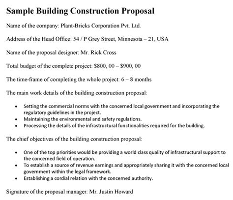 design and build contractors proposals residential construction proposal template