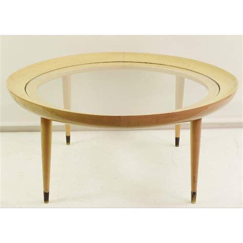 table basse ronde en verre design table basse verre et bois vintage ezooq