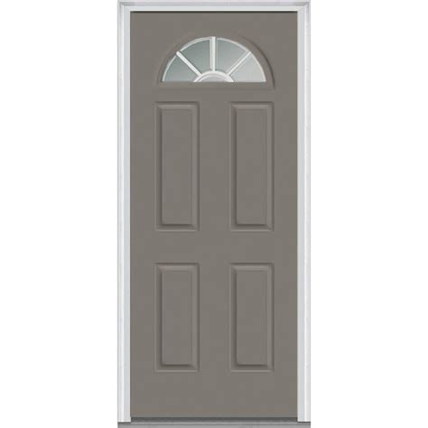Steel Glass Panel Exterior Door Milliken Millwork 33 5 In X 81 75 In Classic Clear Glass Gbg 1 4 Lite 4 Panel Painted Majestic