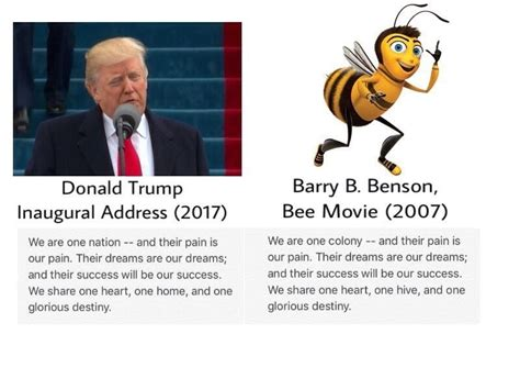 Donald Did Not Get His Mba by Donald Did Not Quote Quot Bee Quot In His Inaugural