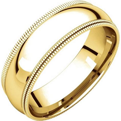 Comfort Wedding Bands by Td123886 14k Gold 6mm Milgrain Comfort Fit Wedding Band