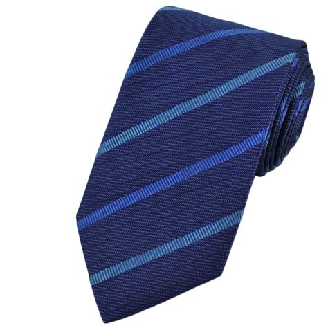 blue patterned ties blue striped patterned silk tie from ties planet uk