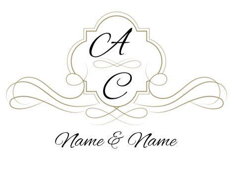 wedding png templates free custom wedding monogram