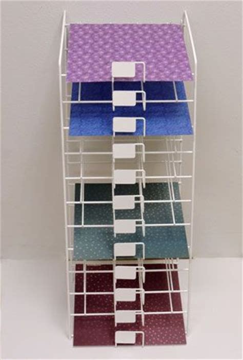 Craft Paper Storage Rack - wire rack for paper storage and vinyl 12x12 sheets craft