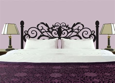 wall decal headboards curly headboard wall decal sticker
