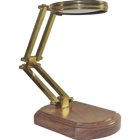 table top magnifying glass vintage magnifying glass table top reader from