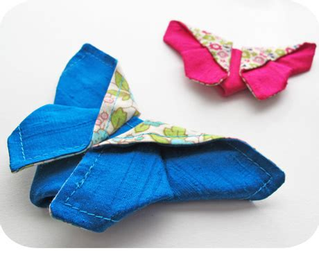 Fabric Origami Tutorial - origami fabric butterfly michellepatterns