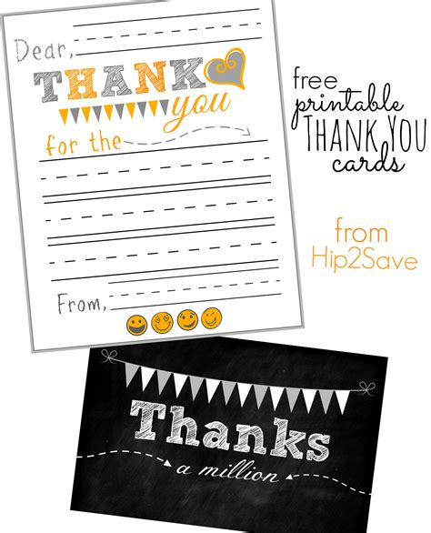 you are special note card template free free printable thank you cards hip2save