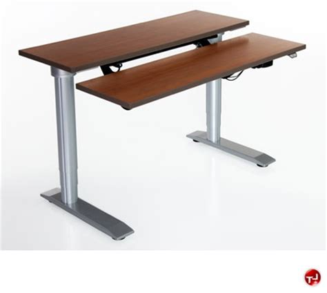 The Office Leader Pop 36 Quot Height Adjustable Dual Computer Adjustable Height Computer Desk Workstation