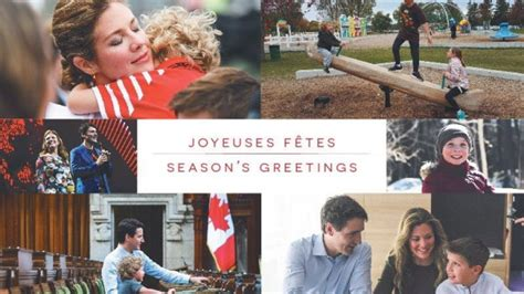 trudeau scheer put families  holiday cards ctv news