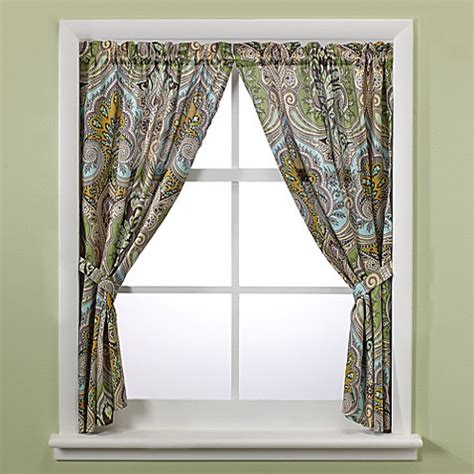 echo curtains echo design majolica bath window curtain panel pair bed