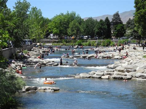 park reno truckee river whitewater park at wingfield park in reno