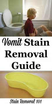 how to remove vomit stains