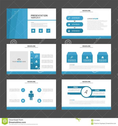 design elements in advertising blue polygon 3 presentation template infographic elements