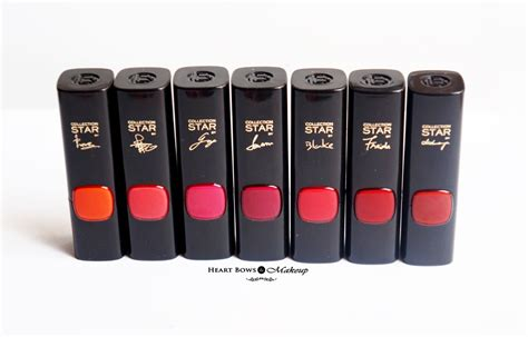 Lipstik Loreal Collection l oreal collection lipsticks review swatches