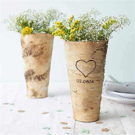 How To Make Birch Bark Vases by Personalised Birch Bark Vase By Letteroom