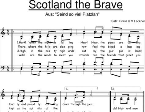 skye boat song noten kostenlos scotland the brave anonymus noten zum download