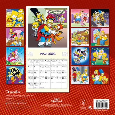 2018 the simpsons wall calendar day the simpsons calendars 2018 on europosters