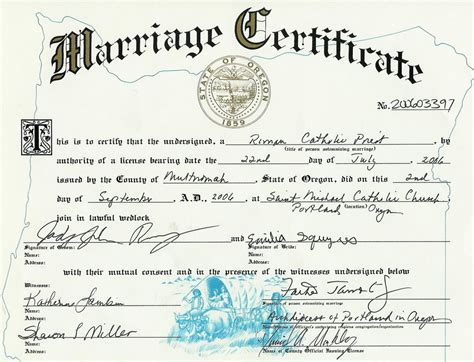 State Of Oregon Marriage License Records A Wedding A Three Month Reflection