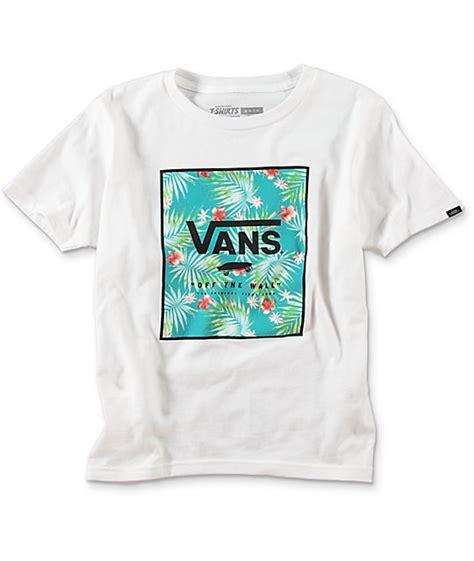 T Shirts Vans vans print box boys white t shirt