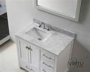 36 Vanity Top With Offset Sink Virtu Usa 36 Quot Square Sink Bathroom Vanity Caroline Vu Gs