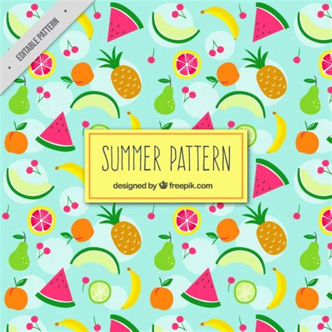 matching your pattern descargar gratis patr 243 n de frutas veraniegas descargar vectores gratis