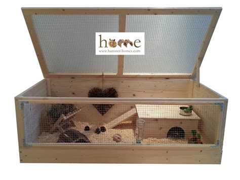 guinea pig house large guinea pig house with ladder and platform roof
