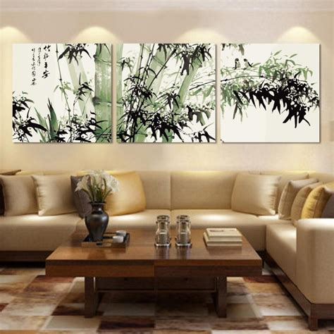 Wall Decor For Living Room Living Room Stunning Wall Decor Ideas Living Room With Green Bamboo Canvas Wall Also